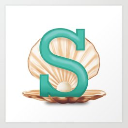 S is for Shell Art Print