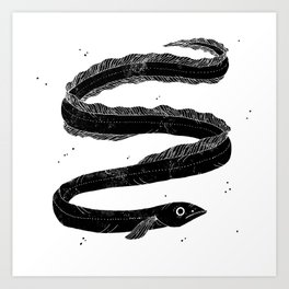 European Eel Art Print