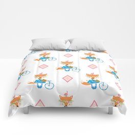 Girl Fox with Pink Diamond Comforters