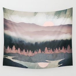 Forest Lake Evening Wall Tapestry