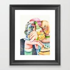 Laughing Friends. Framed Art Print