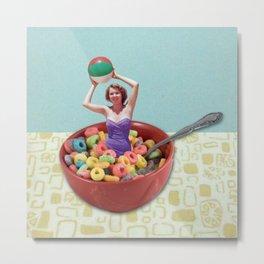 Cereal Bathing Beauty On Tabletop Metal Print