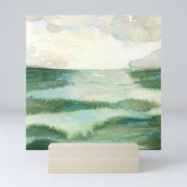 Emerald Sea Watercolor Print Mini Art Print