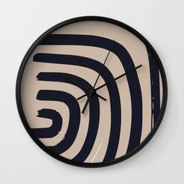 Abstract paint drip Wall Clock