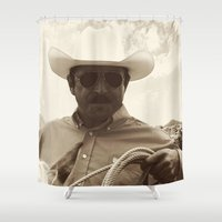 cowboy bebop Shower Curtains featuring Cowboy by DistinctyDesign