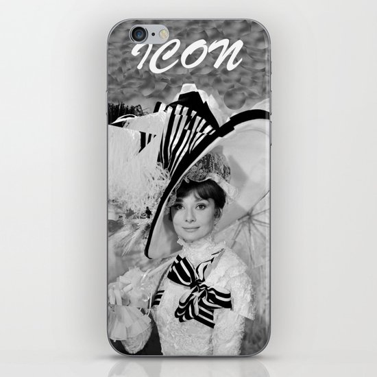 Audrey Hepburn ICONIC ICON BEAUTY SCENE iPhone & iPod Skin