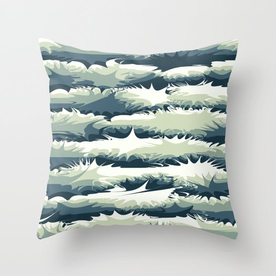Explosions in the water Throw Pillow