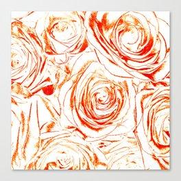 Roses // Wedding Flowers, Abtract Minimalist Art Canvas Print