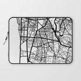 BEIRUT LEBANON BLACK CITY STREET MAP ART Laptop Sleeve
