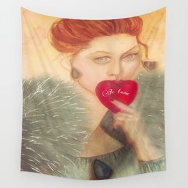 Sealed With A Kiss Watercolor Wall Tapestry