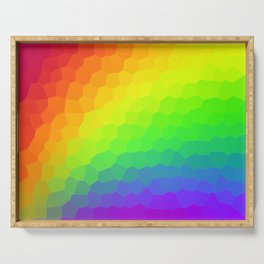 Stained Glass Rainbow Gradient (Dark) Serving Tray