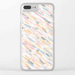 Light Autumn Organic Textures Clear iPhone Case