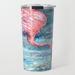 Batik Flamingo Bird Travel Mug