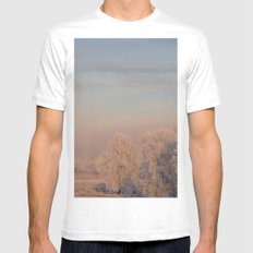 PINK SNOW FOREST Mens Fitted Tee White MEDIUM