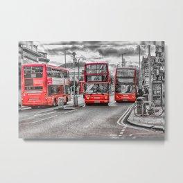 London Red Buses Metal Print
