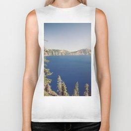 Beautiful Blue Crater Lake Biker Tank