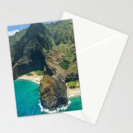 Aerial view Na Pali Coast, Kauai, Hawaii Stationery Cards