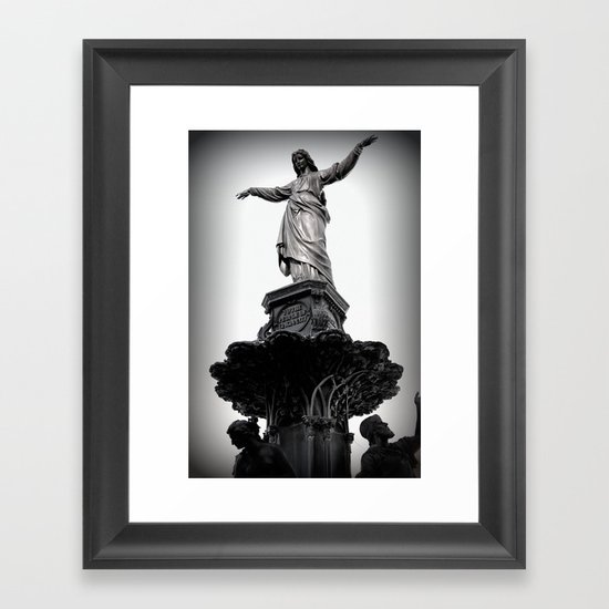 The Lady Of Fountain Square Framed Art Print