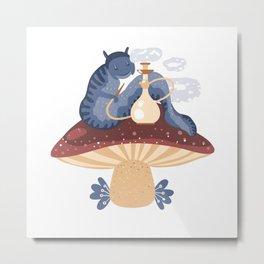 Blue caterpillar Metal Print
