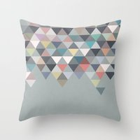 nordic Throw Pillows featuring Nordic Combination 20 by Mareike Böhmer