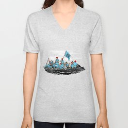 Team Zissou Crossing the Delaware Unisex V-Neck