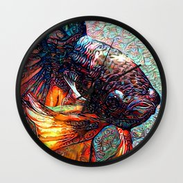 Fish Kiss Wall Clock