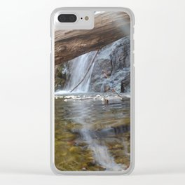 Cascade Falls with a ray of light Clear iPhone Case