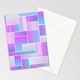 Abstract Holographic Pastel Pattern Stationery Cards