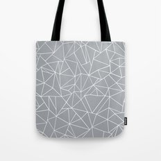 Abstraction Outline Grey Tote Bag