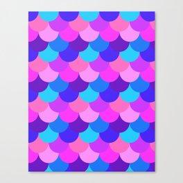 Scalloped Confetti in Electric Orchid Multi Canvas Print