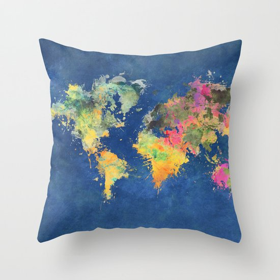 Throw Pillows With World Map : world map 93 #worldmap #map #world Throw Pillow by Jbjart Society6