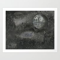 death star Art Prints featuring death star by Dan Solo Galleries