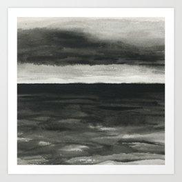 Dark sea Art Print