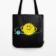 The Whole World Revolves Around Me Tote Bag