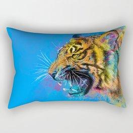 Angry Tiger Rectangular Pillow
