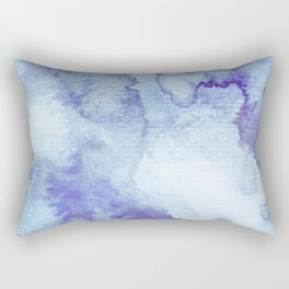 Blue Watercolor Background Rectangular Pillow