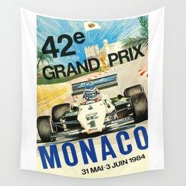 Gran Prix de Monaco, 1984, vintage poster Wall Tapestry