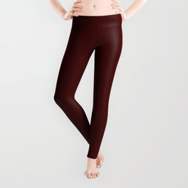 Simply Maroon Red Leggings
