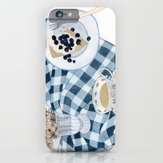 Still life with blueberry pie iPhone 6s Slim Case