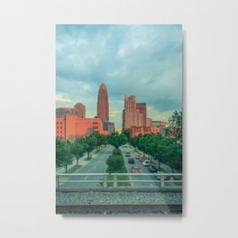 Uptown Charlotte, Trade Street Metal Print
