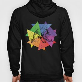 Colorful Anteater Lover Retro Style Silhouette Gift print Hoody