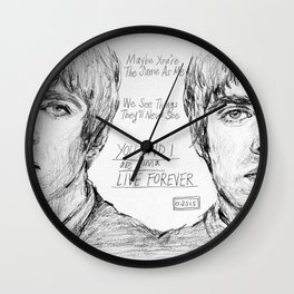 Noel and Liam (With Live Forever Lyrics) Wall Clock