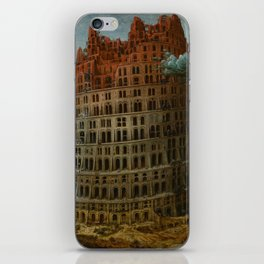 The Tower of Babel by Pieter Bruegel the Elder iPhone Skin