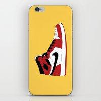 air jordan iPhone & iPod Skins featuring Air Jordan 1 by Dennis Cortes
