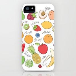 Fruit Doodles iPhone Case