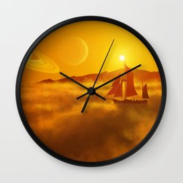 Solar Sailer Wall Clock