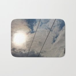 clouds and wire, abstract, no.02 Bath Mat