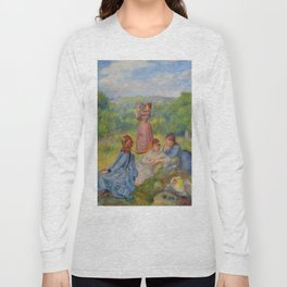 """Auguste Renoir """"Jeunes filles jouant au volant"""" Long Sleeve T-shirt"""