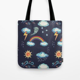 Blame It On The Weather-man Tote Bag