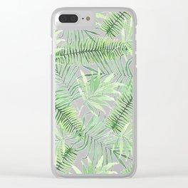 Tropical Branches Pattern 04 Clear iPhone Case